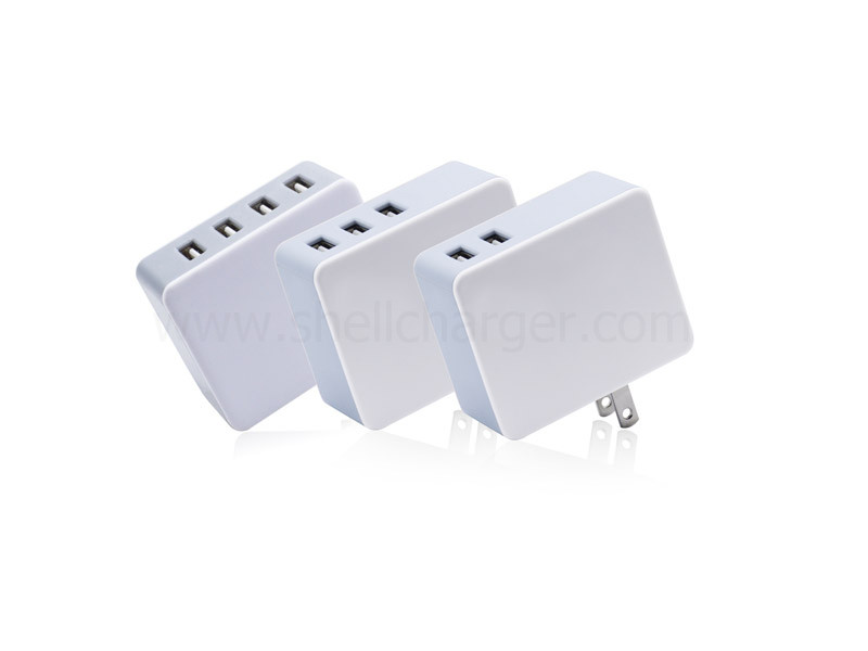 QC3.0,4.8A,4USB wall charger with smart IC and SGS CE(EMC+LVD) approved,S-TR-111