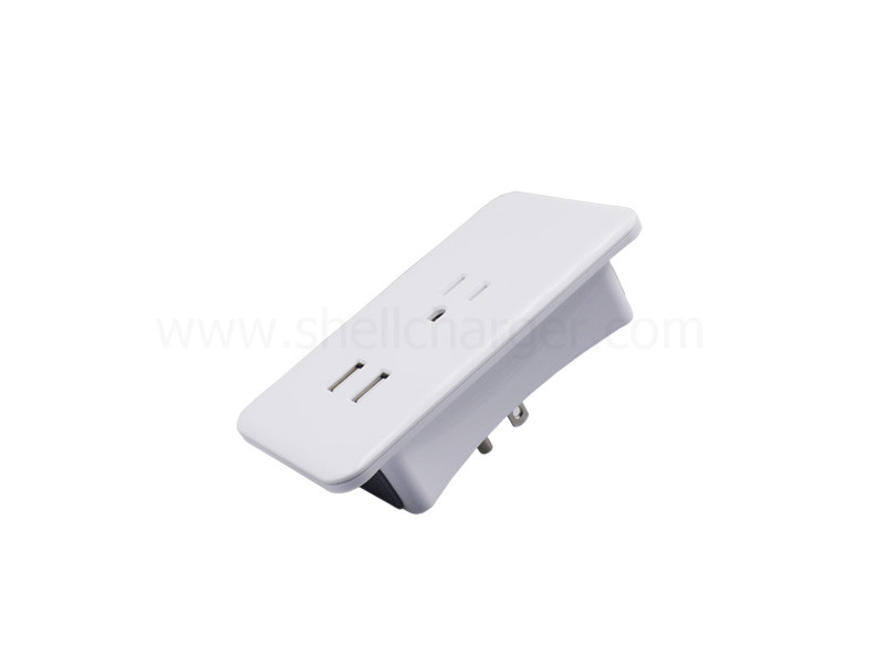 3.4A Dual USB expansion socket with UL approved,S-WS-114