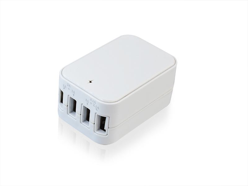 5.1A,4USB Wall charger with UL and CE(EMC+LVD) approved,S-TR-203
